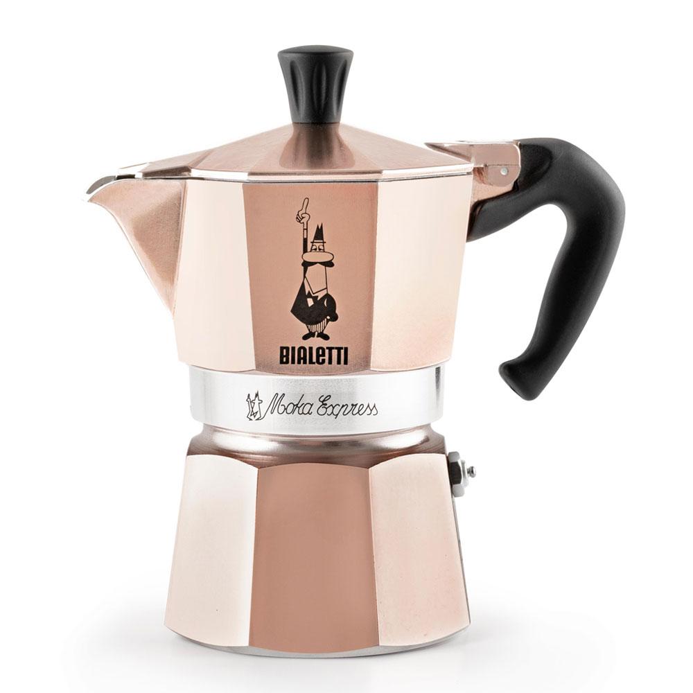 Гейзерная кофеварка Bialetti Moka Express Rose Gold (лимитированная серия) в официальном интернет-магазине Bialetti